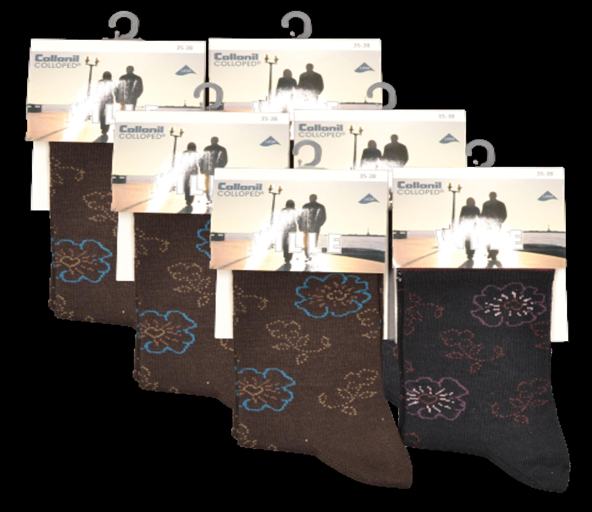6 Paires Chaussettes Pour Femmes Animal Rayures exquise élégance confortable 4-8