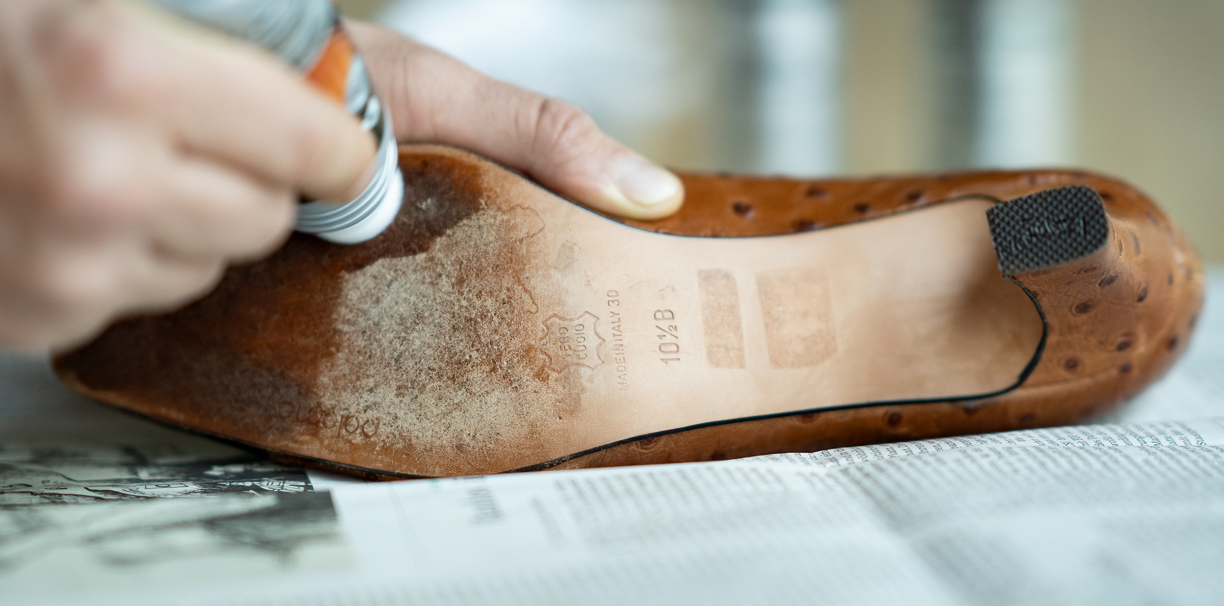 care for leather soles