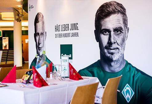 Werder bergrüßt seine Gäste